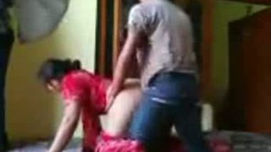 Sexy punjabi bhabhi in red salwar & anal fucked by neighbour
