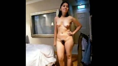 North Indian Wife Nude With Lover Riding on Cock