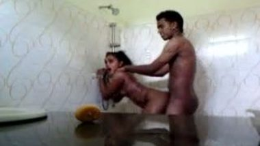 Hardcore Bathroom sex of maid and owner