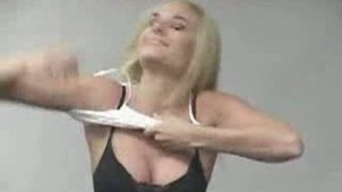 American Girl Opening Brazer in Bathroom