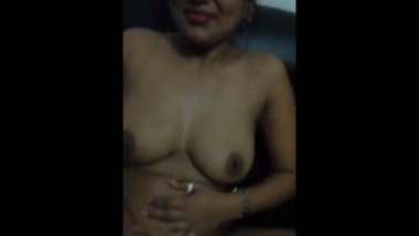 Sexy Indian babe strips and fingers Over Skype