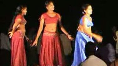 Telugu Hot Girls Night stage dance 4
