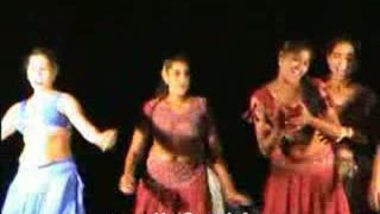 Telugu Hot Girls Night stage dance 1