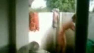 Maid Nude Bath Outside