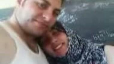 Arab Couple Kissing