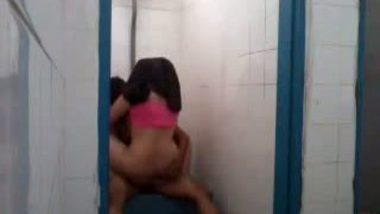 College girl Shobana fucked in bathroom by lover