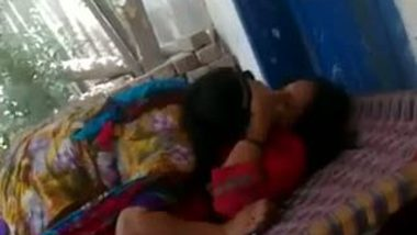 Village girls' masti hot lesbian smooch outside home