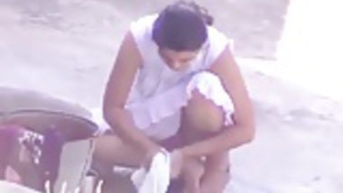 Beautiful Bangalore girl in pink panty