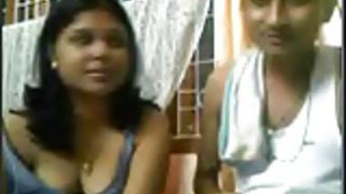 Desi couple giving a show on webcam