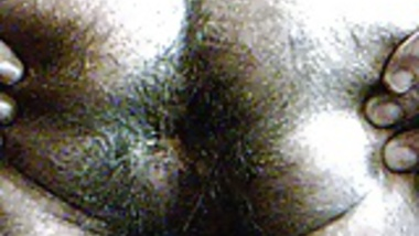 hairy Indian ass close