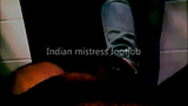 Indian mistress footjob