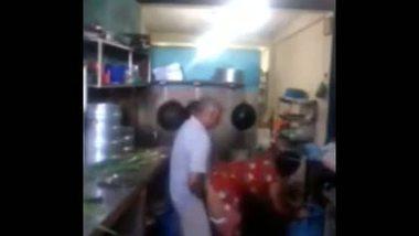 Indian bhabhi kitchen sex clips with sasurji