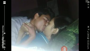 Village college teen's hot kissing session