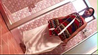 Sexy bhabhi bathing wearing just a towel