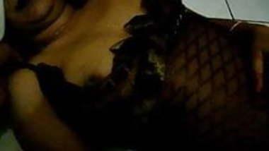 Desi wife black lingerie
