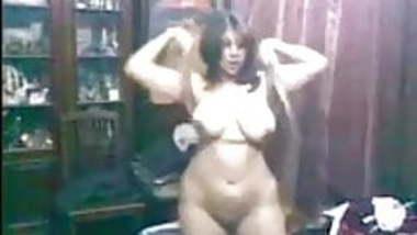 Indian busty wife Shivani dancing nude PART 1