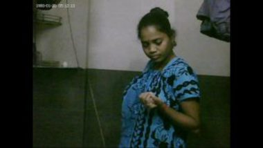 Sexy Bhabhi Undressing In Bathroom