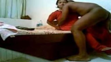 Indian Bhabhi In Red Nighty Banged By Naked Neighbor