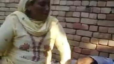 punjabi old baba is enjoying with her neighbor