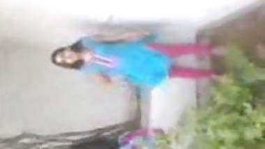 Indian Girl Outdoor strip tease
