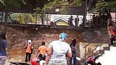 Big Ass Indian mother Waiting At school