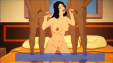 Cartoon Sex Video Showing Savita Bhabhi Threesome