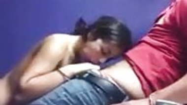 Indian girl trying to suck