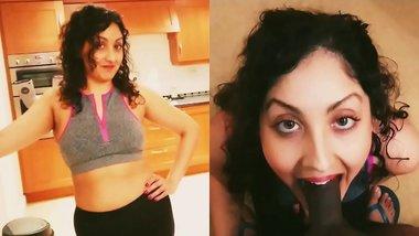 Big ass step sister in yoga pants gets massive cumshot after the gym