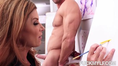 Artistic Mylf India Summer Seduces Her Nude Male Model