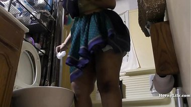 South Indian Maid Cleans and Showers hidden camera