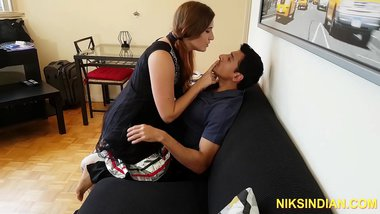 Gori Ma'am intoxicates Indian boy and gets her ass and pussy fucked