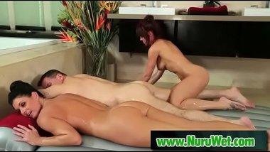 Milf masseuse fucked during nuru massage - India Summer & John Strong