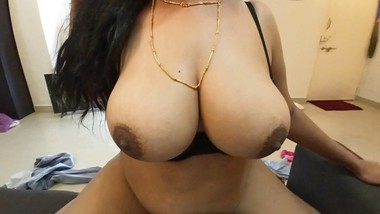 Karisma S6E4 Slutty Indian Bhabhi with Huge Tits Fucks Landlord to Save Rent and Gets Cumshot