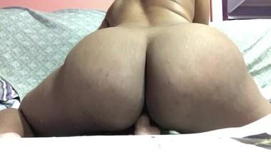 Fat Ass Boucing On Dildo