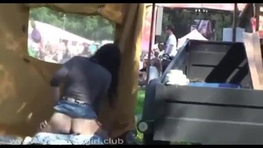 Caught A Couple Fucking Inside Tent At Fair