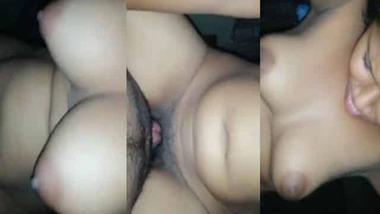 Nice booby Desi girl riding dick MMS sex video
