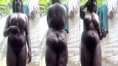 Black beauty busty Tamil GF selfie video
