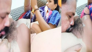 Indian hubby licking pussy live phone sex show