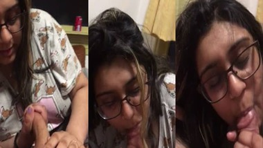 Chubby Indian wife blowjob to her husband