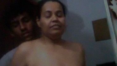 Sexy video of Indian stepmom with son