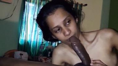 Lean desi girl enjoying big hard black cock MMS