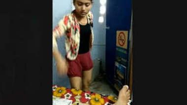 Cute look Desi girl Wering Cloths After Sex