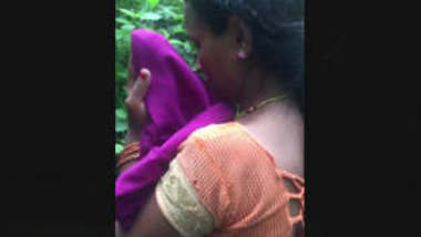 Pregnant Tamil wife Exposed By Lover In Jungle