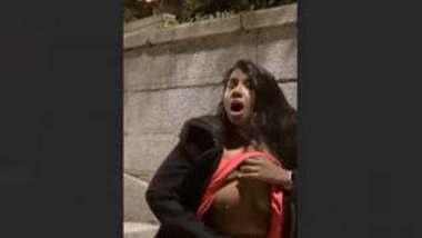 Daring NRI indian Girl Pussy Fingering On Street