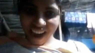 Village girl showing her boobs on video call