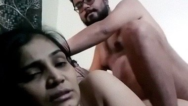 Fucking video of beautiful Indian GF on couch