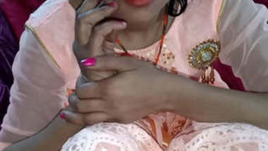 Indian girlfriend love sex with clear Hindi oudio