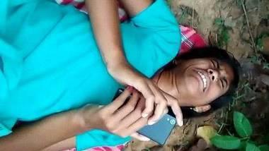 Desi Jungli chut randi caught before sex in Jungle
