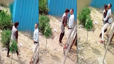 Daring Desi outdoor sex act recorded by a voyeur