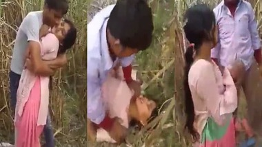 Dehati Bhabhi sharing sex in the outdoors MMS video